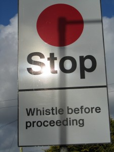 Whistle Before Proceeding